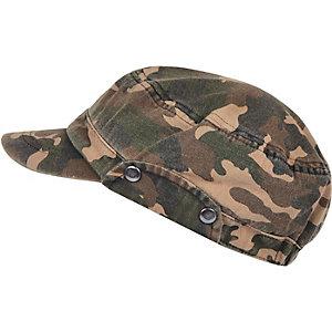 Ecru camouflage print field cap
