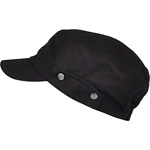 Black field cap