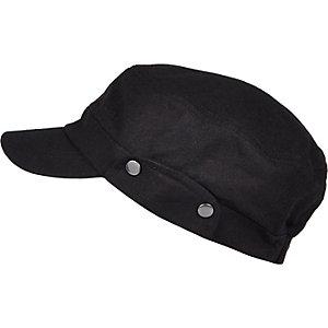 Black field cap
