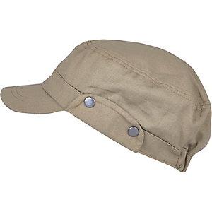 Dark beige field cap