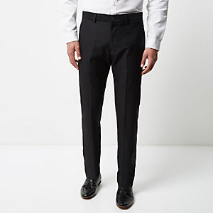 Black tailored suit pants
