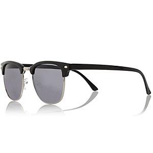 Black flat top sunglasses