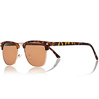 Brown flat top sunglasses