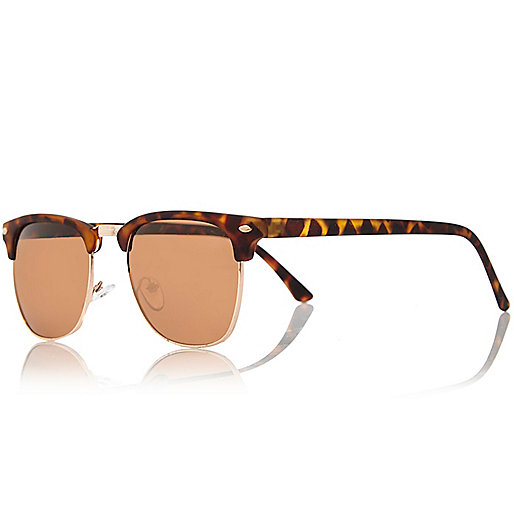 Brown flat top sunglasses