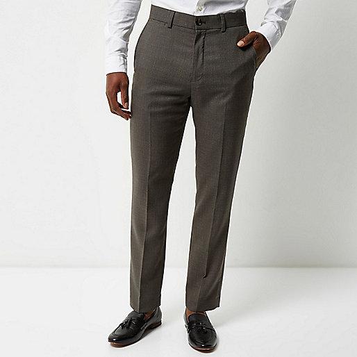 Grey tailored suit pants
