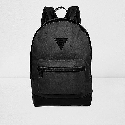 Black minimal backpack
