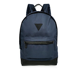 Navy minimal backpack