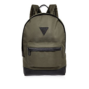 Green minimal backpack