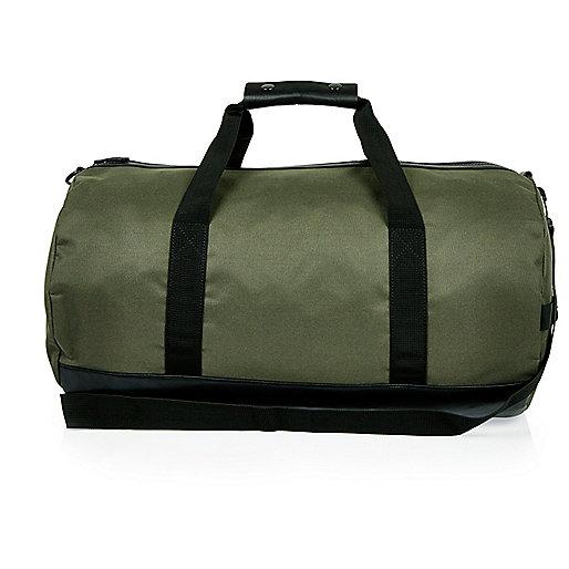 Grüne Duffle-Tasche