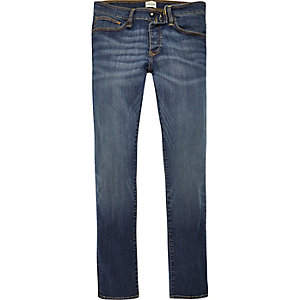 Blue wash RI Flex Danny super skinny jeans