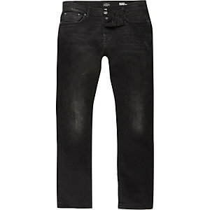 Black washed Ronnie cigarette jeans