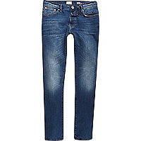 Mid blue wash Ronnie cigarette jeans