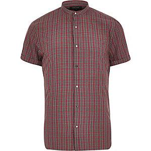 Red check grandad shirt