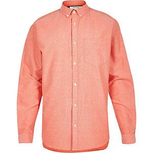 Orange Oxford shirt