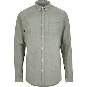 Green Oxford shirt