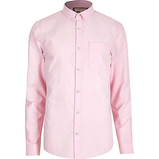 Pink slim fit Oxford shirt