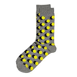 Grey shadowed polka dot socks