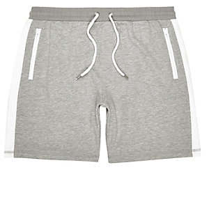 Grey side stripe sport shorts