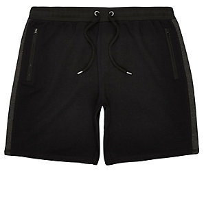 Black side stripe sport shorts