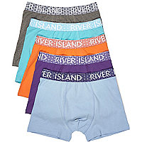 Blue branded trunks multipack
