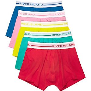 Red block colour trunks pack