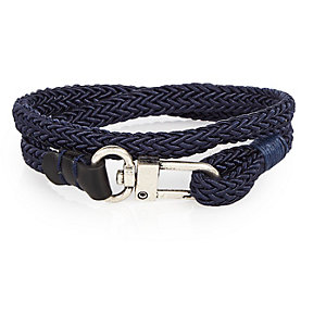 Navy wrap hook bracelet