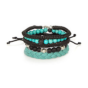 Turquoise bead bracelet pack