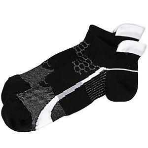 Black contrast stripe sneaker socks