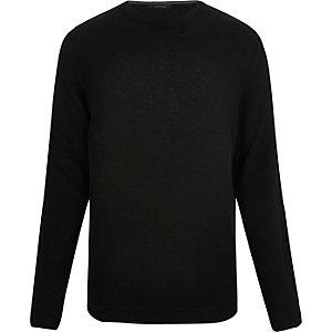 Black textured jumper