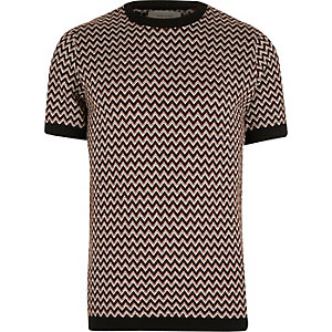 Brown zig zag t-shirt