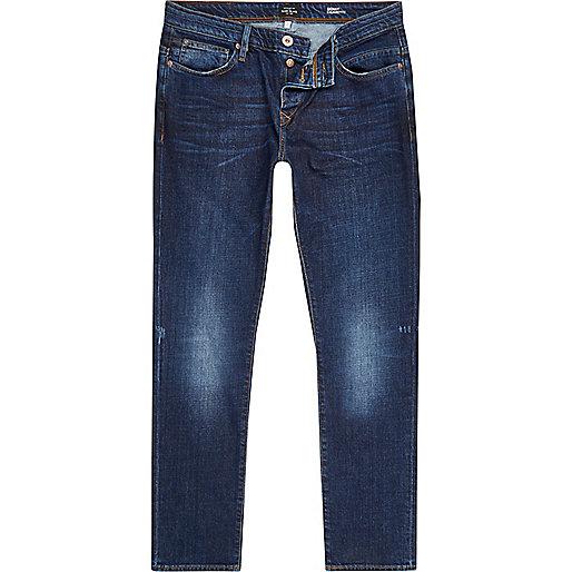 Dark blue wash Ronnie skinny cigarette jeans