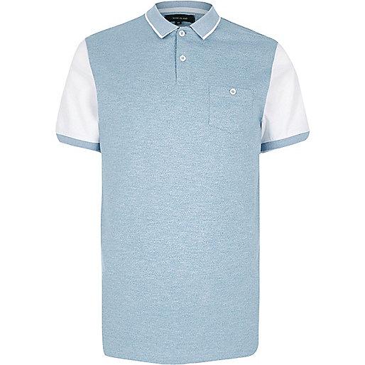 Blaues Polohemd