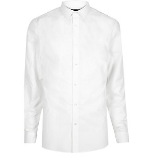 White smart slim fit shirt