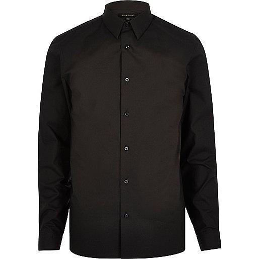 Black smart slim fit shirt