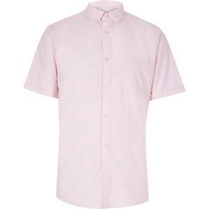 Light pink slim fit Oxford shirt