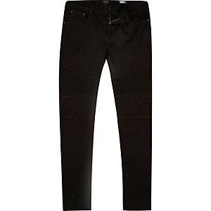 Black Eddy biker-style skinny jeans