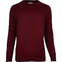 Pull ras du cou rouge