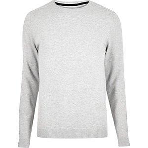 Light grey crew neck sweater