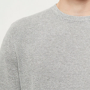 Grey textured sweater