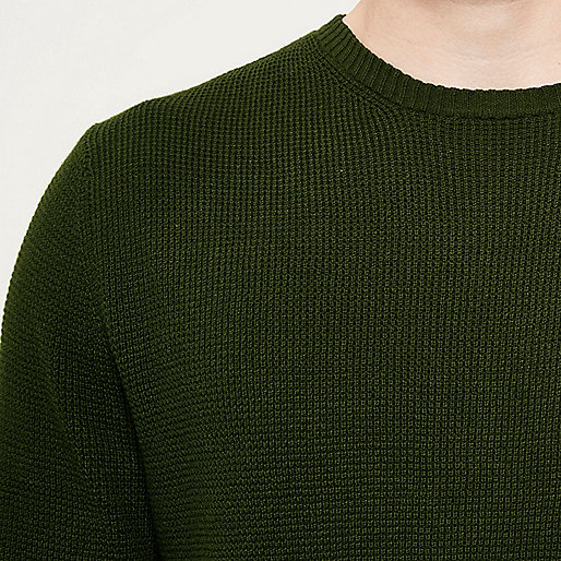 Dark green textured sweater