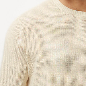 Ecru textured jumper
