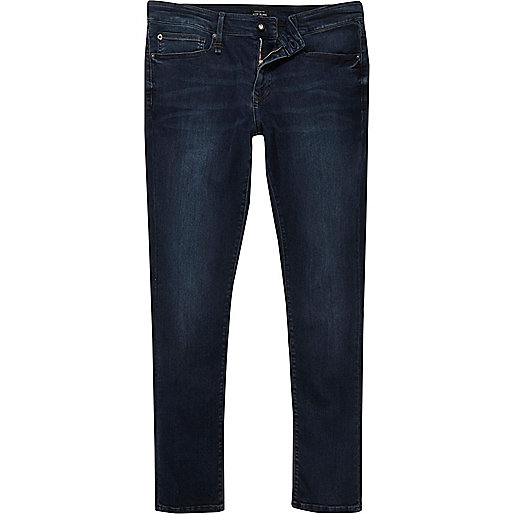 Dark blue RI Flex Danny super skinny jeans