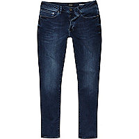 Danny – Superenge Skinny Jeans in dunkelblauer Waschung