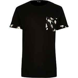 Only & Sons black pocket print t-shirt