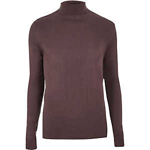 Purple roll neck jumper