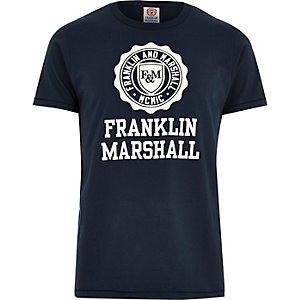 Navy Franklin & Marshall print t-shirt