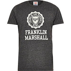 Dark grey Franklin & Marshall print t-shirt