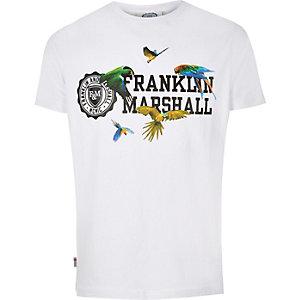 White Franklin & Marshall bird print t-shirt