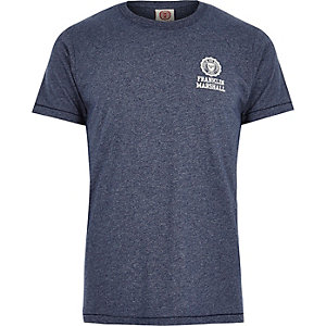 Blue Franklin & Marshall print marl t-shirt