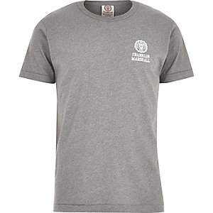 Grey Franklin & Marshall logo print t-shirt